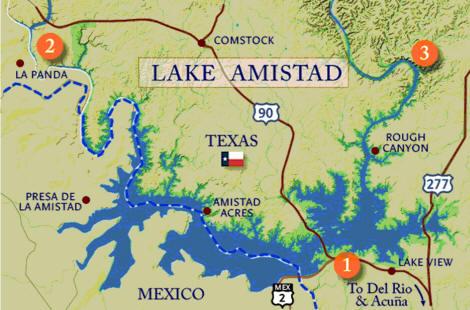 Lake Amistad Fishing Guide Amistad Bass Fishing Guide Lake
